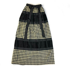 Vintage Neusteters Buffalo Plaid Stripe Maxi Skirt